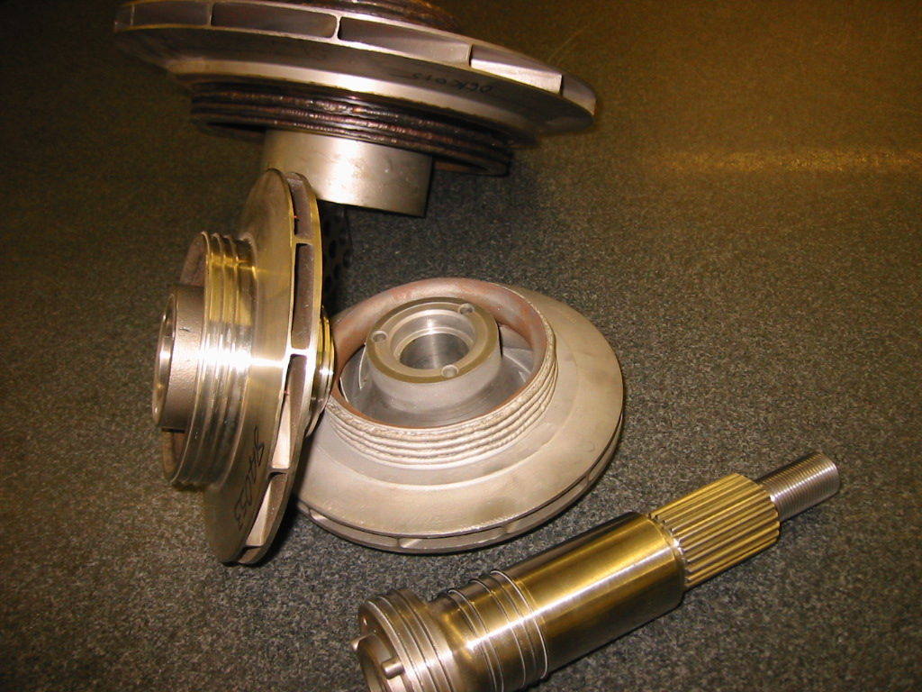 Welded pump parts